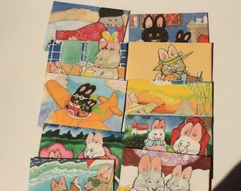 Set of 10 Max and Ruby  envelopes, children's envelopes, cartoon envelopes, Upcycled envelopes, small envelope, custom envelope
