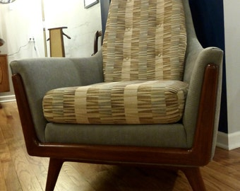 Persall Style Mid Century Club Chair By Bassett