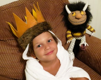EXCLUSIVE hooded towel and crown - Inspired by Where the wild things are