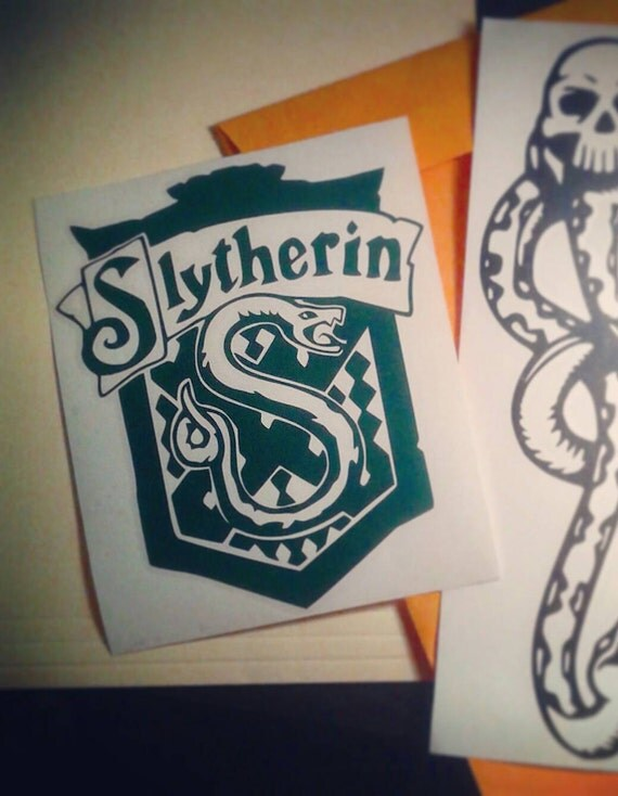 Slytherin decal 5 inches hogwarts house crest harry - Hogwarts decal ...