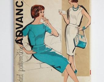 CLEARANCE / Vintage 1960s Advance Pattern 9724 / Misses' Two-Piece Dress / Bust 36 / Size 16