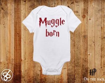 Muggle Born Harry Potter Onesie - Muggle Baby One Piece - Harry Potter Baby Clothing
