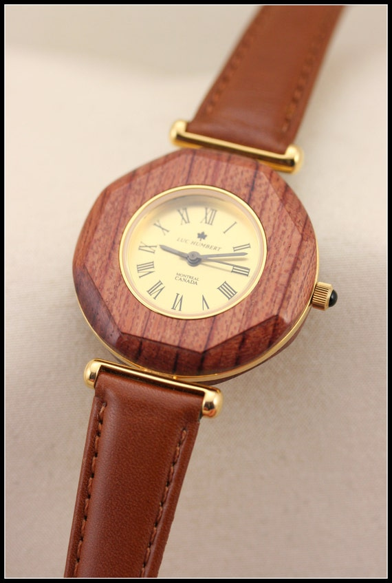 s watches wood leather brown by humbertcreations