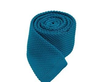 Lake Blue Slim Ties,Mens Slim Ties.Wedding Accessories.Suit Accessories.