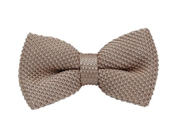Knit Bow Tie.Milk Chocolate Bow Tie,Bowtie for Wedding,Party.