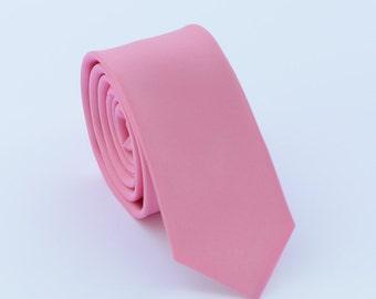 Pink Tie.Pink Wedding Tie.Mens Neckite.Pink Skinny Tie.Pink Wedding Accessories