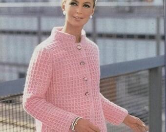 Crochet Coat Pattern Crochet Jacket Pattern Crochet Sweater Pattern Crochet Top Pattern Vintage 60s