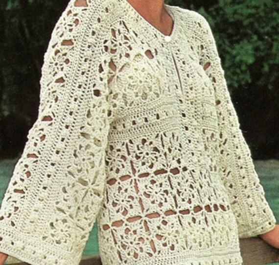 Patrones de vestidos tejidos a crochet para playa – Moda Española ...