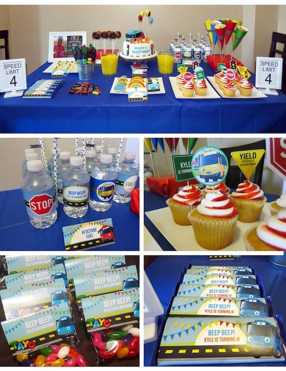 Tayo The Little Bus Party Set Birthday DIY