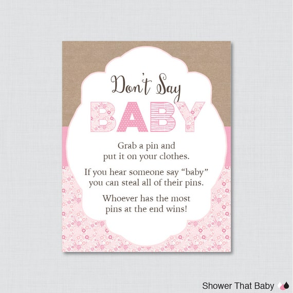 don 39 t say baby baby shower game printable diaper pin clothes pin game