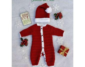 Crochet santa outfit | Etsy