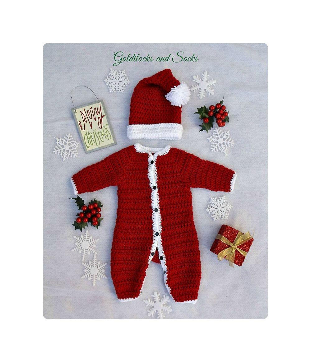 Baby Santa outfit crochet Santa suit newborn Santa outfit