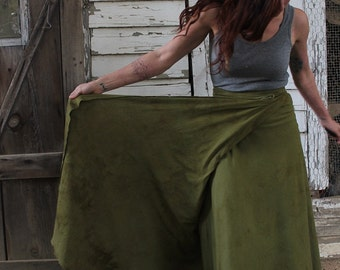 Gather Wrap Skirt / Organic Cotton and Hemp