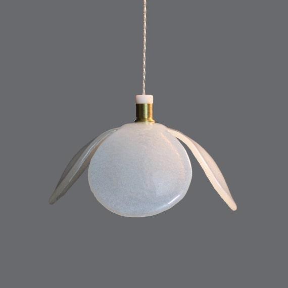 glass pendant light flower white chandelier lighting