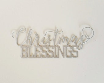 Christmas Blessings Script Die Cuts