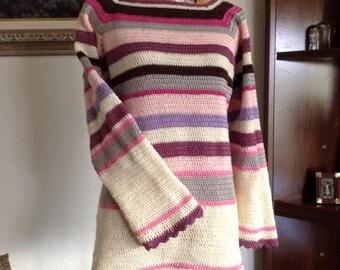 Crochet, crochet sweater pullover