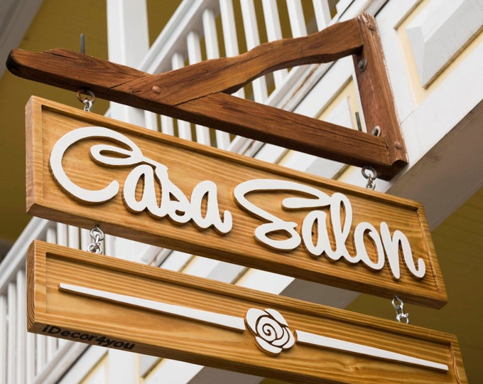 Carved Wood Business Sign, Advertising Outdoor Signage, Company name sign, Business logo design