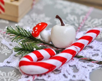 Candy Cane Ornament Soft Christmas Tree Decoration Xmas Home Gift Wrap Decor Textile Stuffed Gift