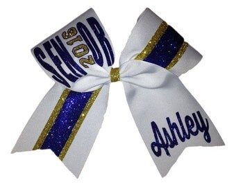 2017 or 2018 Custom 2 Colored Senior Cheer Bow
