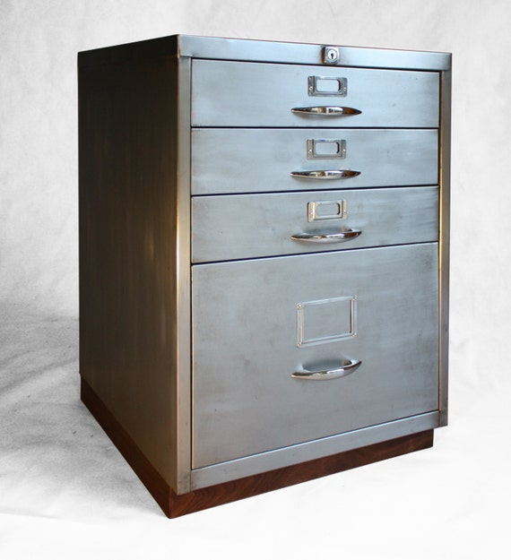 Refurbish Kitchen Cabinets: Refurbished Retro Filing Cabinet With Walnut Base