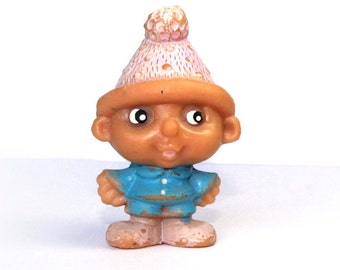 Soviet cartoon characters Excellent vintage rubber toy The gnome Vasya – USSR doll – Soviet Union