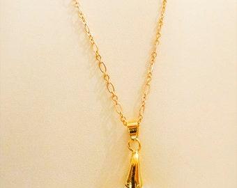 SWAROVSKI NECKLACE, Swarovski jewelry, Swarovski pendant, Swarovski Edelweiss crystal, gold plate chain, magnetic clasp - 1085W
