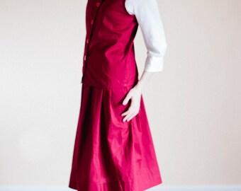 Skirt and Vest Set - Plain Skirt and Vest Set - Made to Measure Modest Skirt Amish Mennonite long skirt Mennonite skirt modest long skirt