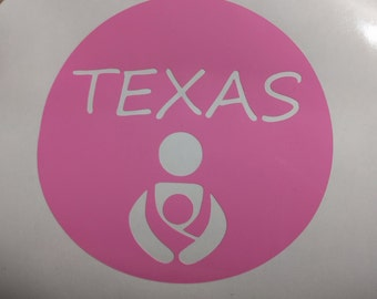 Texas Babywearing decal (2.75 inch all around) great for the tula, beco, ergo, mei tai, ring sling, wrap, wrap conversion lovers