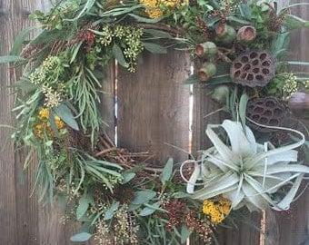 Handmade Country Air Plant Wreath