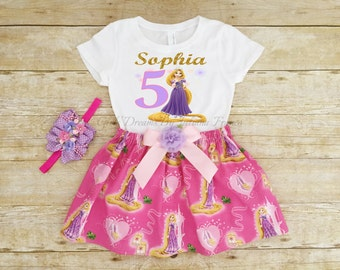 Tangled Birthday Outfit, Rapunzel Tutu, Rapunzel Outfit, Rapunzel Personalized Shirt, Girls Tangled Shirt, Princess Shirt, Tangled Birthday