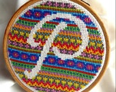 Fair Isle Monogram Cross Stitch Pattern (PDF only)