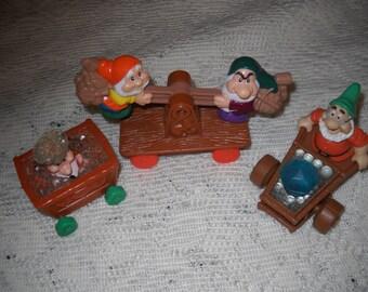Disney Snow White and the Seven Dwarf Train Figures - Toys - Set of Three