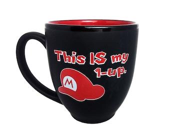 8 Bit Gamer Mug, Mario & Ness - Coffee Mug, Nintendo, Earthbound, Mother 3, NES, Retro Gaming, Gamer Gift, Gift under 25