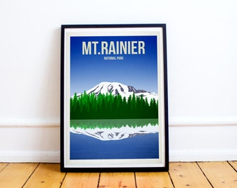 Mt Rainier National Park - US National Parks - Art Print - (Available In Many Sizes)