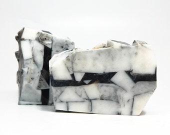 White Turquoise Bar Soap