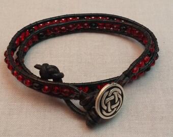 SALE!! 20% OFF!!! Leather Wrap Bracelet