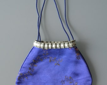 Blue reticule with ribbons and Avis. Regeny bag