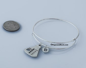 Erlenmeyer flask bangle, science lab accessories, gift for science teacher chemistry bracelet gift for chemist lab worker bracelet