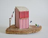 Driftwood Miniature Punch and Judy Theatre Stand, Handmade By Hello Sunshine Designs Cornwall. Retro Seaside, British Seaside, Bunting,