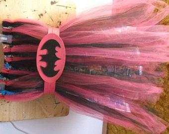 Batgirl tulle tutu dress w/belt