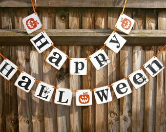 Halloween Decoration/ Happy Halloween Banner/Halloween Party Decor/ Party and Decorations/Fall decoration/Halloween garland/Halloween sign