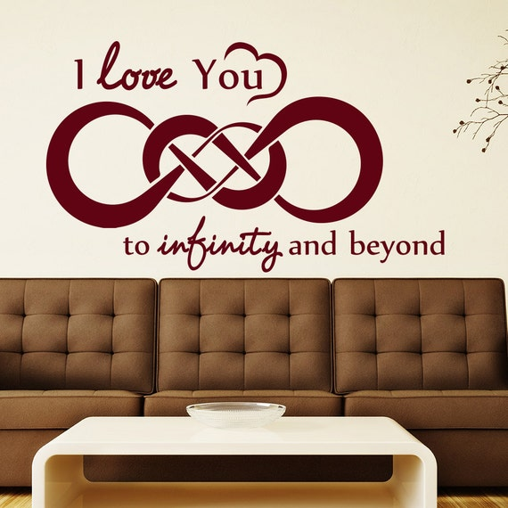 I Love You Quotes: Wall Decal Quote I Love You To Infinity And Beyond Vinyl