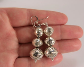 Navajo Sterling Silver Earrings Native American Southwestern