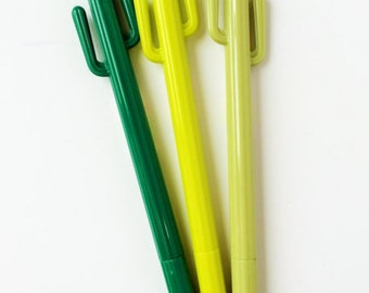 Cute cactus gel pen (available in 3 colors)