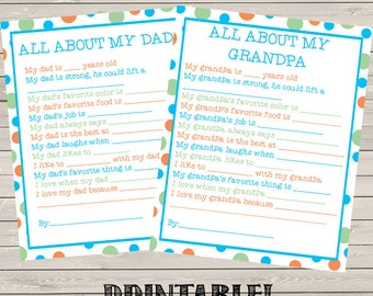 Dad AND Grandpa Printable Kids Gift!