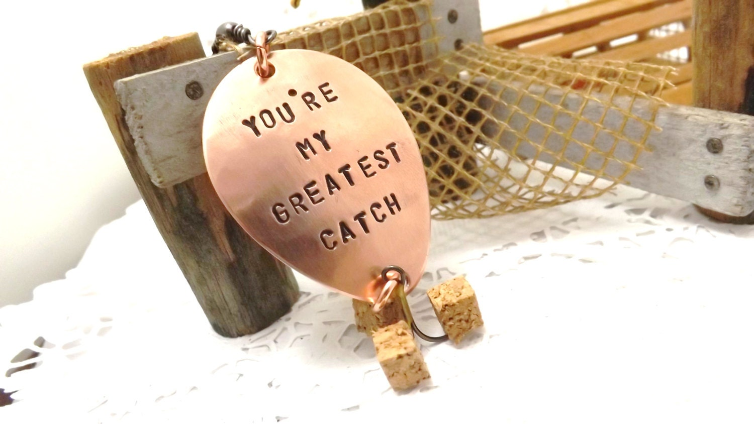 Fishing lure you 39 re my greatest catch personalized custom for Personalized fishing lure