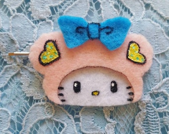 BubbleLu™ Hello Kitty Inspired Teddy Hair Clip