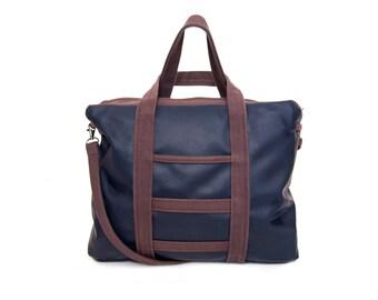 "Weekender bag ""Neva"" - eco leather, custom order available"