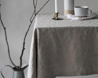 Linen Tablecloth - Natural Flax