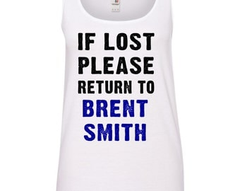 If Lost Please Return to Brent Smith (Shinedown) Ladies TANK TOP